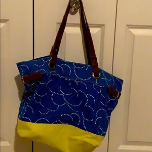 Boden tote with leather detail